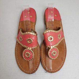 Jack Rogers Coral Open Toe-Thong Sandals Sz 7M